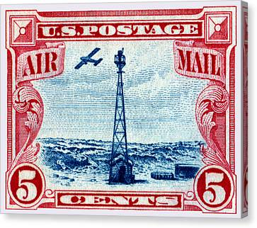 1928 Rocky Mountain Beacon Stamp Canvas Print
