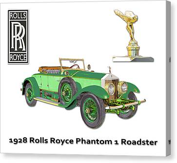 1928 Rolls Royce Phantom 1 Canvas Print