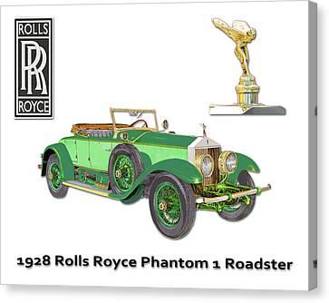 1928 Rolls Royce Phantom 1 Canvas Print