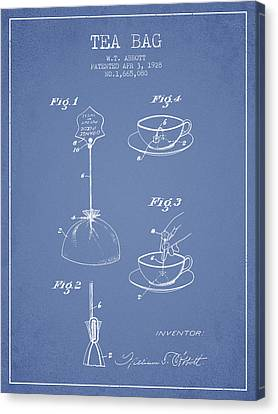 1928 Tea Bag Patent - Light Blue Canvas Print