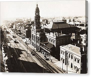 1928 Vintage Adelaide City Landscape Canvas Print by Jorgo Photography - Wall Art Gallery