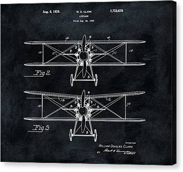 1929 Airplane Patent Canvas Print by Dan Sproul