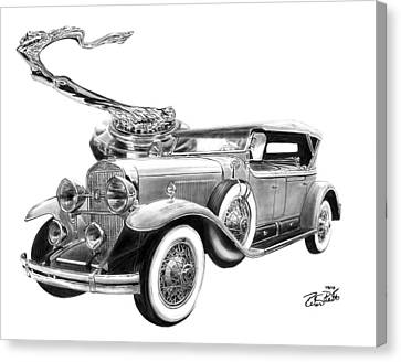 1929 Cadillac  Canvas Print by Peter Piatt