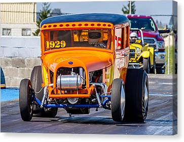 Drag Racing Canvas Print - 1929 Ford by Bill Gallagher