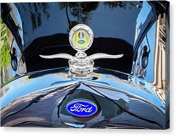 1929 Ford Model A Hood Ornament  Canvas Print by Rich Franco