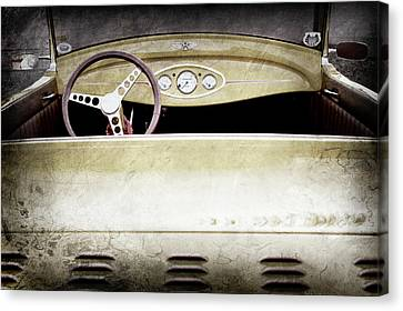 1929 Ford Model A Roadster -0040ac Canvas Print by Jill Reger