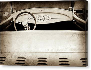 1929 Ford Model A Roadster -0040s Canvas Print by Jill Reger
