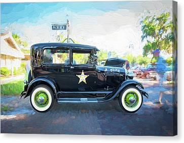 1929 Ford Model A Tudor Police Sedan  Canvas Print by Rich Franco