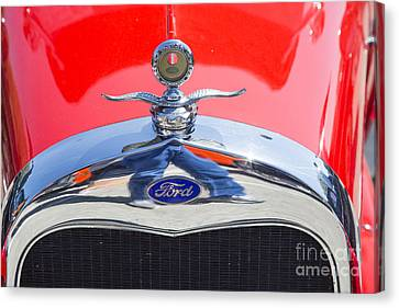 1929 Ford Phaeton Classic Antique Car Emblem In Color 3504.02 Canvas Print by M K  Miller