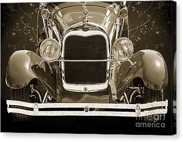 1929 Ford Phaeton Classic Car Front End Antique In Sepia 3512.01 Canvas Print by M K  Miller
