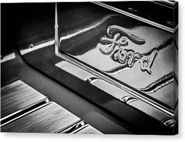 1929 Ford Roadster Pickup Truck -0158bw Canvas Print by Jill Reger