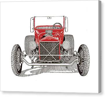 1929 Ford T Bucket Hot Rod Canvas Print