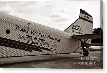 1929 Ford Trimotor Canvas Print