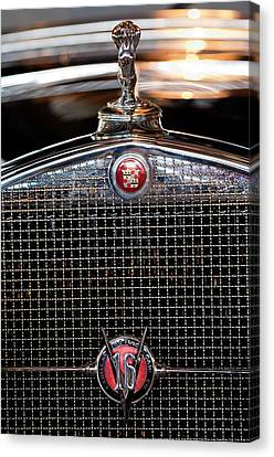 1930 Cadillac Roadster Hood Ornament 3 Canvas Print by Jill Reger