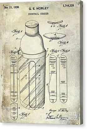 1930 Cocktail Shaker Patent Canvas Print by Jon Neidert