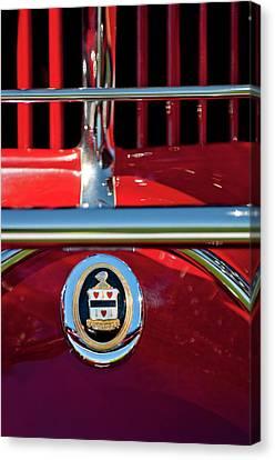 1930 Cord L29 Phaeton Emblem Canvas Print by Jill Reger