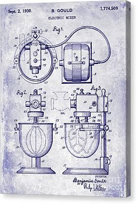 1930 Electric Mixer Patent Blueprint Canvas Print