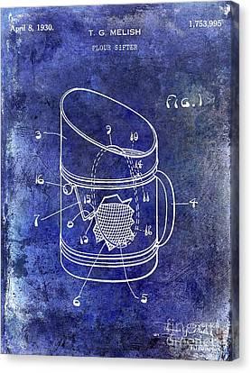 1930 Flour Sifter Patent  Blue Canvas Print