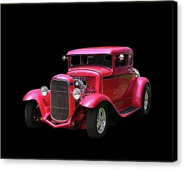 1930 Ford 5 Window Coupe Canvas Print by Jack Pumphrey