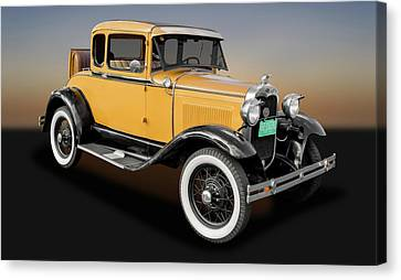 1930 Ford Model A 5 Window Coupe  -  1930fdmda9305 Canvas Print