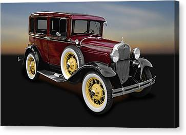1930 Ford Model A Fordor Town Sedan  -  1930fd2doorsed9869 Canvas Print