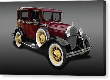 1930 Ford Model A Fordor Town Sedan  -  1930ford2dsedfa9869 Canvas Print