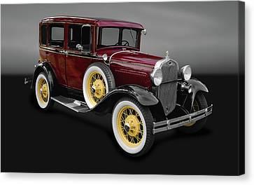 1930 Ford Model A Fordor Town Sedan  -  30fordsedgry9869 Canvas Print