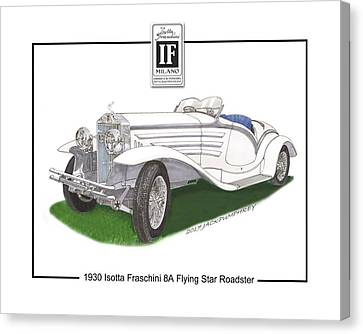 1930 Isotta Fraschini 8a Flying Star Roadster Canvas Print by Jack Pumphrey