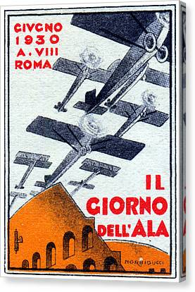 1930 Italian Air Show Canvas Print by Historic Image