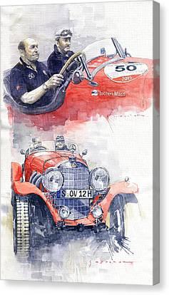 1930 Mercedes-benz 710 Ss Johen Mass  Millemiglia 2015  Canvas Print