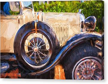 1930 Model A Ford Deluxe Roadster Convertible 13 Canvas Print
