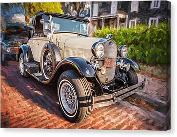 1930 Model A Ford Deluxe Roadster Convertible 2 Canvas Print