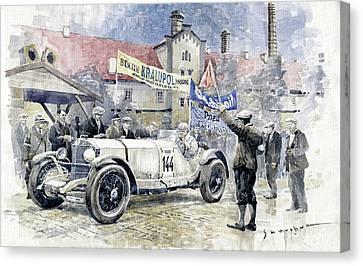 1930 Zbraslav-jiloviste Regularity Ride To The Top Mercedes Benz Ssk  Rudolf Caracciola Winner. Canvas Print