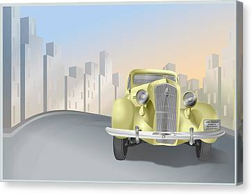 1930's Plymouth Sedan Canvas Print by Marty Garland