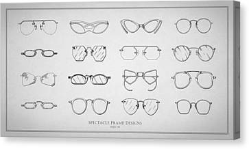 Optometrist Canvas Print - 1930s Spectacle Designs by Mark Rogan