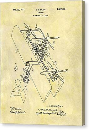 1931 Airplane Patent Canvas Print by Dan Sproul