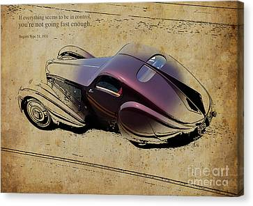 1931 Bugatti Type 51 Quote Canvas Print by Pablo Franchi