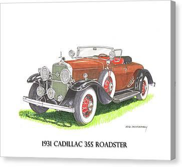 1931 Cadillac 355 V 8 Roadster Canvas Print by Jack Pumphrey