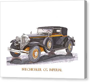 Chrysler C G Imperial Canvas Print
