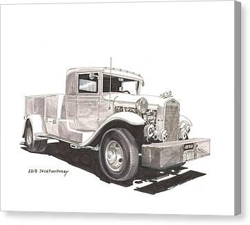 1931 Ford A A Truck Canvas Print