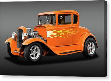Canvas Print featuring the photograph 1931 Ford Model A 5 Window Coupe  -  1931fordmdlacoupefa172189 by Frank J Benz