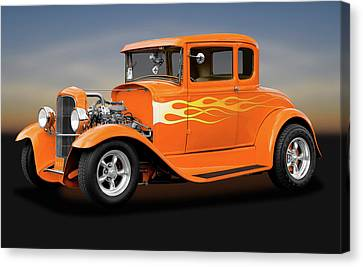 Canvas Print featuring the photograph 1931 Ford Model A 5 Window Coupe  -  1931fordmodela172189 by Frank J Benz