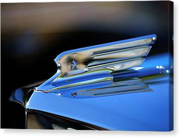 1931 Marmon Sixteen Coupe Hood Ornament 2 Canvas Print by Jill Reger