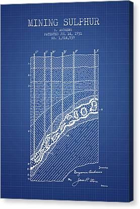 1931 Mining Sulphur Patent En38_bp Canvas Print by Aged Pixel