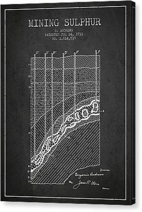 1931 Mining Sulphur Patent En38_cg Canvas Print by Aged Pixel