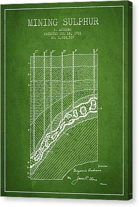 1931 Mining Sulphur Patent En38_pg Canvas Print by Aged Pixel