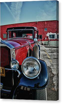 Canvas Print featuring the photograph 1931 Pierce Arow 3473 by Guy Whiteley