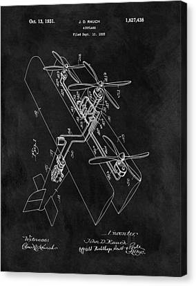 1931 Plane Patent Canvas Print by Dan Sproul