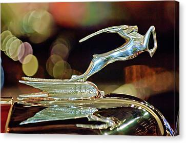 1932 Chrysler Imperial Hood Ornament 1 Canvas Print by Jill Reger