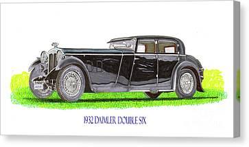 1932 Daimler Double 6 40 50 Canvas Print